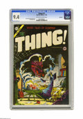 Golden Age (1938-1955):Horror, The Thing! #17 Northford pedigree (Charlton, 1954) CGC NM 9.4Off-white to white page. Rounding out our selection of pedigre...