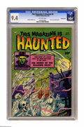 Golden Age (1938-1955):Horror, This Magazine Is Haunted #6 Crowley Copy pedigree (Fawcett, 1952)CGC NM 9.4 Off-white pages. From the files of Fawcett edit...