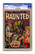Golden Age (1938-1955):Horror, This Magazine Is Haunted #9 Crowley Copy pedigree (Fawcett, 1953)CGC NM- 9.2 Off-white pages. Sheldon Moldoff provided cove...