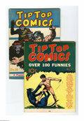 Platinum Age (1897-1937):Miscellaneous, Tip Top Comics #3 and 16 Group (United Features, 1936-37). Bothissues have Tarzan stories with Hal Foster art as well as Ta...(Total: 2)