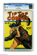 Platinum Age (1897-1937):Miscellaneous, Tip Top Comics #18 (United Features Syndicate, 1937) CGC VF+ 8.5White pages. This is the highest-graded copy that CGC has c...