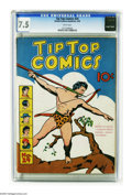 Golden Age (1938-1955):Miscellaneous, Tip Top Comics #24 (United Features Syndicate, 1938) CGC VF- 7.5 White pages. Tarzan cover. Overstreet 2005 VF 8.0 value = $...