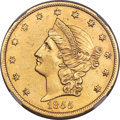 Territorial Gold , 1855 $20 Kellogg & Co. Twenty Dollar AU55 NGC. K-3c, R.5....