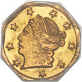 California Fractional Gold , 1869 25C Liberty Octagonal 25 Cents, BG-712, High R.4, MS67PCGS....
