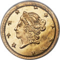 California Fractional Gold , 1871 50C Liberty Round 50 Cents, BG-1011, R.2, MS67 PCGS....