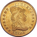 Early Eagles, 1800 $10 -- Tooled -- BD-1, High R.3, PCGS Genuine. XF Details....