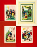 Prints:Contemporary, Group of Twenty-Nine Nineteenth Century Hand-Colored Illustrations.Circa 1875. Various sizes, the largest matted to an over...