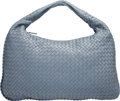 "Luxury Accessories:Bags, Bottega Veneta Blue Intrecciato Nappa Leather Shoulder Bag.Excellent Condition. 18"" Width x 12"" Height x 2"" Depth. ..."