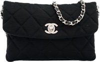 """Chanel Black Quilted Wool Shoulder Bag Pristine Condition 7"""" Width x 4.5"""" Height x 1"""" Depth</"""