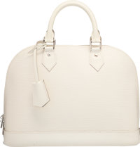 """Louis Vuitton Ivory Epi Leather Alma PM Bag Excellent to Pristine Condition 12.5"""" Width x 9.5"""" He"""