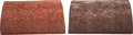"""Luxury Accessories:Bags, Nancy Gonzales Set of Two; Brown Python Clutches. Very GoodCondition. 12"""" Width x 7"""" Height x 2"""" Depth. ... (Total:2 Items)"""