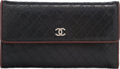 "Luxury Accessories:Accessories, Chanel Black Embossed Leather Wallet. Very Good Condition. 7"" Width x 4"" Height x 1"" Depth. ..."