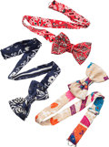 "Luxury Accessories:Accessories, Hermes Blue, Red & Beige Silk Bowties. PristineCondition. 2"" Width x 2.5"" Length. ... (Total: 3 )"