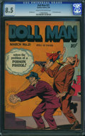 Golden Age (1938-1955):Superhero, Doll Man #21 (Quality, 1949) CGC VF+ 8.5 Cream to off-white pages.