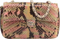 "Luxury Accessories:Bags, Chanel Multicolor Python Mini Flap Bag. Very Good Condition.6"" Width x 4"" Height x 1.5"" Depth. ..."