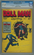 Golden Age (1938-1955):Superhero, Doll Man Quarterly #9 (Quality, 1946) CGC VF- 7.5 Off-white pages.