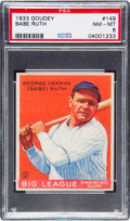 Baseball Cards:Singles (1930-1939), 1933 Goudey Babe Ruth #149 PSA NM-MT 8. ...