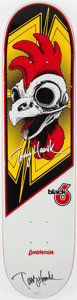 Autographs:Others, Tony Hawk Signed Rooster Skateboard Deck. ...