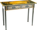 "Furniture, An English Painted ""Captain's"" Writing Desk,, 20th century. 31-1/2 h x 40 w x 17-1/2 d inches (80.0 x 101.6 x 44.5 cm). ..."