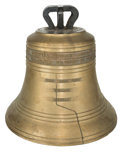 Bronze:American, A 1/5 Scale Replica of the Liberty Bell, 20th century. 15-7/8inches high (40.3 cm). PROPERTY FROM THE ESTATE OF HOWARD CR...