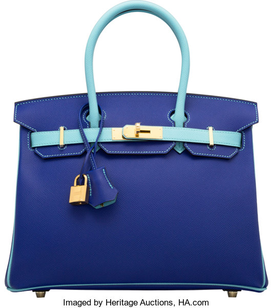 ce262547cd3 Hermes Special Order Horseshoe 30cm Blue Electric   Blue
