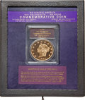 """S.S.C.A. Relic Gold Medals, (2001) $50 SSCA Relic Gold Medal """"1855 Kellogg & Co. Fifty"""" GemProof PCGS...."""