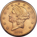 Liberty Double Eagles, 1884-CC $20 -- Altered Surfaces -- PCGS Genuine. Unc Details. Variety 1-A....