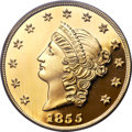 """S.S.C.A. Relic Gold Medals, (2001) 1855 $50 SSCA Relic Gold Medal """"1855 Kellogg & Co.Fifty"""" Gem Proof PCGS...."""