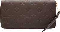 "Louis Vuitton Brown Monogram Empriente Leather Zippy Wallet Excellent to Pristine Condition 8"" Wi"