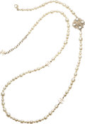 "Luxury Accessories:Accessories, Chanel Baroque Glass Pearl CC Necklace . Pristine Condition.1.5"" Width x 46"" Length. ..."