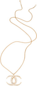 "Luxury Accessories:Accessories, Chanel Gold & Silver Crystal CC Dubai Necklace. PristineCondition. 2"" Width x 35"" Length. ..."
