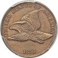 Proof Flying Eagle Cents, 1856 1C Snow-9 -- Filed Rims -- PCGS Genuine. Proof, Unc. Details....