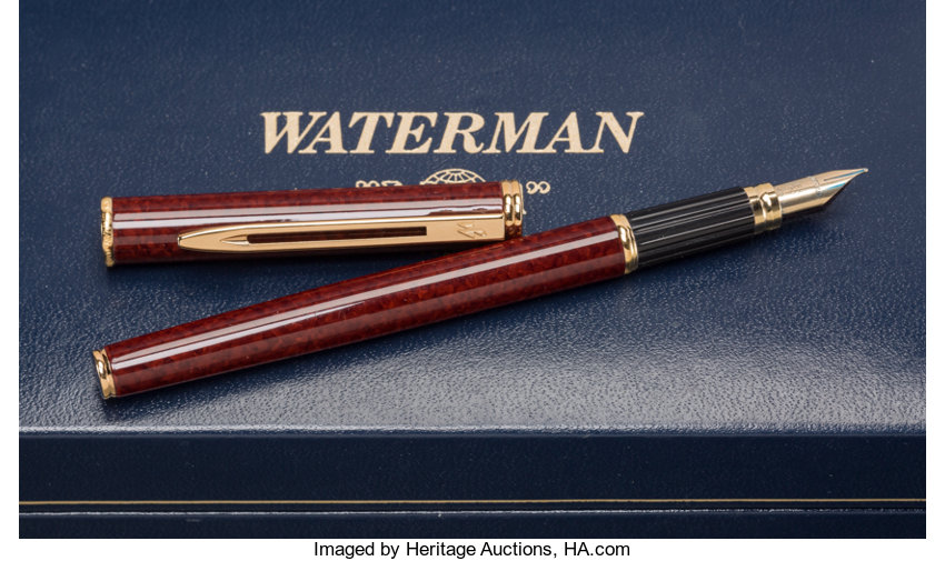 ... Decorative Arts, American, A Waterman Ideal Fountain Pen with 18K Nib,  20th century ...