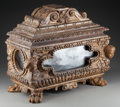 Decorative Arts, Continental:Other , An Italian Giltwood and Mirrored Reliquary Casket, 17th century andlater. 15-1/2 h x 19-1/2 w x 10 inches deep (39.4 x 49.5...