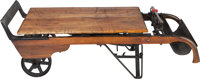 A Porter's Grain Scale Converted to a Wooden Coffee Table, 20th century 14 h x 51 w x 24 d inches (35.6 x 129.5 x 61.0 c...