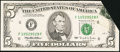 Error Notes:Foldovers, Fr. 1984-F $5 1995 Federal Reserve Note. Very Fine-Extremely Fine.. ...