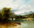 Fine Art - Painting, American:Antique  (Pre 1900), Andrew Melrose (American, 1826-1901). Along the Sasquehanna.Oil on canvas. 25 x 30 inches (63.5 x 76.2 cm). Signed lowe...