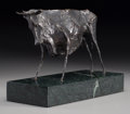 Fine Art - Sculpture, American:Contemporary (1950 to present), Elie Nadelman (American, 1882-1946). Bull, 1978. Bronze withbrown patina. 6 inches (15.2 cm) high on a 1-3/4 inches (4....