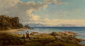 Fine Art - Painting, European:Antique  (Pre 1900), George Edwards Hering (British, 1805-1879). On the Shore of theAdriatic, 1868. Oil on canvas. 21-1/2 x 43 inches (54.6 ...