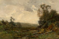 Fine Art - Painting, American:Antique  (Pre 1900), Edward Loyal Field (American, 1856-1914). The South Pasture.Oil on canvas. 20 x 30 inches (50.8 x 76.2 cm). Signed lowe...