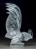 Art Glass:Lalique, R. Lalique Clear Glass Coq Nain Mascot. Circa 1928. MoldedR. LALIQUE, FRANCE. M p. 498, No. 1135. Ht. 8 in....