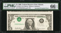 Error Notes:Inverted Third Printings, Fr. 1925-F $1 1999 Federal Reserve Note. PMG Gem Uncirculated 66EPQ.. ...