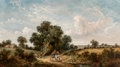 Paintings, James Edwin Meadows (British, 1828-1888). The Horsecart. Oil on canvas. 24 x 42-1/2 inches (61.0 x 108.0 cm). Signed low...