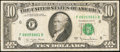 Error Notes:Ink Smears, Fr. 2024-F $10 1977A Federal Reserve Note. Fine.. ...