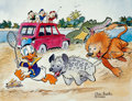 Animation Art:Poster, Carl Barks Help! Help! Our Unca Donald is Number Two In a FoodChain Signed Limited Edition Print PP #16/25 (Carl ...