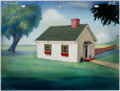 Animation Art:Painted cel background, The Housing Problem Painted Background Group of 2(Terrytoons, 1946).... (Total: 2 )
