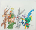 Animation Art:Production Drawing, Virgil Ross - Looney Tunes All-Stars Illustration (Warner Brothers,c. 1990)....