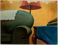 Animation Art:Painted cel background, Scrap For Victory Painted Background Group of 2 (Terrytoons,1943).... (Total: 2 )