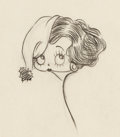 Animation Art:Concept Art, Betty Boop Concept Drawing (Max Fleischer, c. 1930s)....