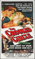 "Movie Posters:Crime, The Crooked Circle & Other Lot (Republic, 1957). Three Sheet(41"" X 80"") & One Sheet (27"" X 41""). Crime.. ... (Total: 2Items)"